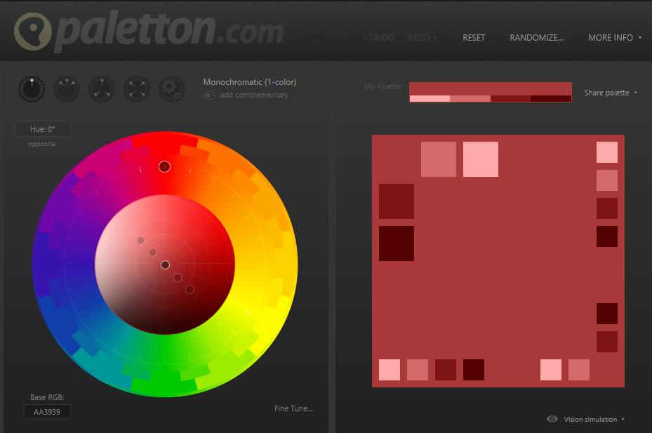 цветовая палитра для красивого сайта
