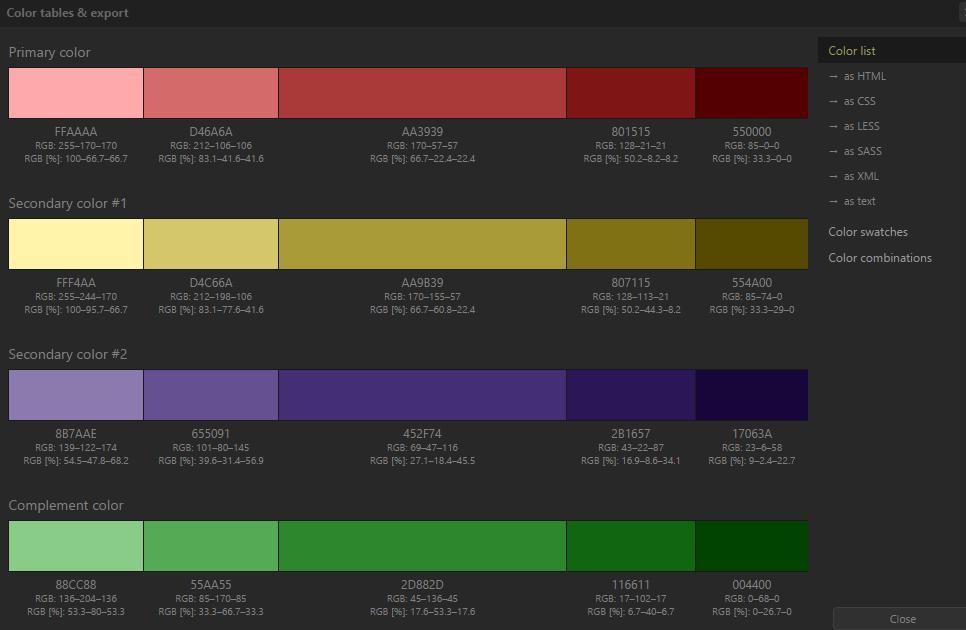 цветовая палитра для сайта
